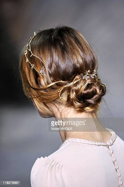 A model walks the runway during the Valentino Haute Couture Fall/Winter 201112 show as part of the Paris Haute Couture Fashion Week on July 06 2011...