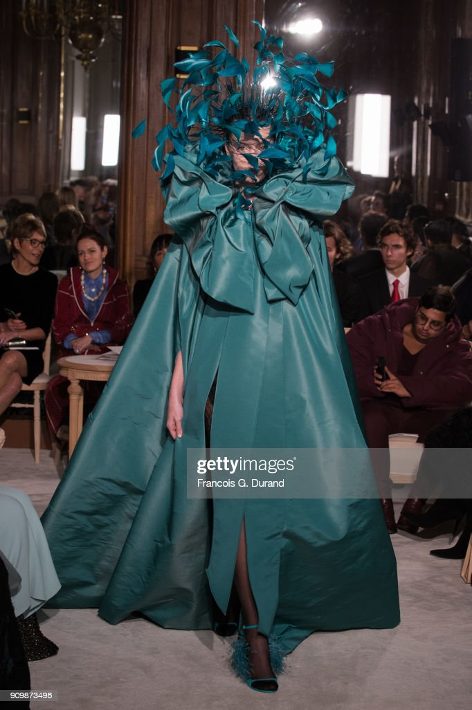 A model walks the runway during the Valentino Haute Couture Spring Summer 2018 show as part of Paris Fashion Week on January 24, 2018 in Paris, France.