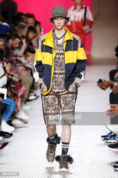 A model walks the runway during the Valentino Menswear Spring/Summer 2019 show as part of Paris Fashion Week on June 20 2018 in Paris France