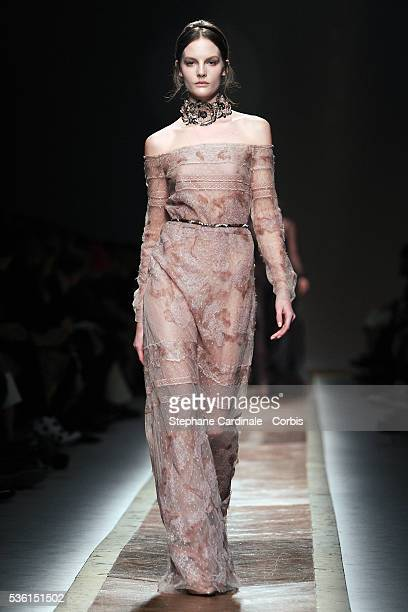 06b9031e2 A model walks the runway during the Valentino Ready to Wear Autumn/Winter  2011/