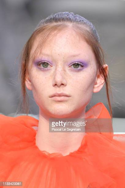 A model walks the runway during the Valentino show as part of the Paris Fashion Week Womenswear Fall/Winter 2019/2020 on March 03 2019 in Paris France