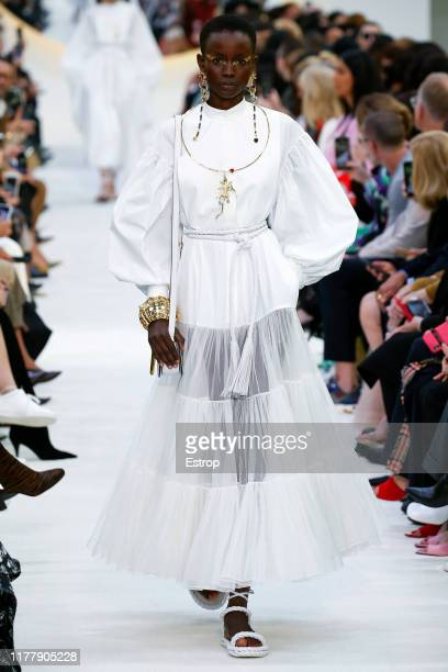 A model walks the runway during the Valentino Womenswear Spring/Summer 2020 show as part of Paris Fashion Week on September 29 2019 in Paris France