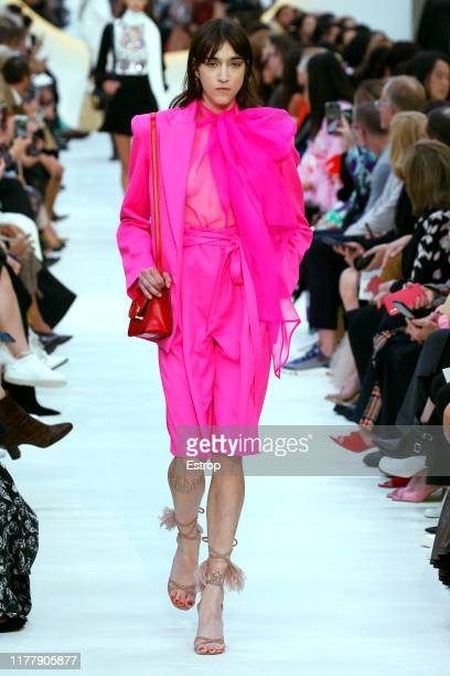 Model walks the runway during the Valentino Womenswear Spring/Summer 2020 show as part of Paris Fashion Week on September 29, 2019 in Paris, France.