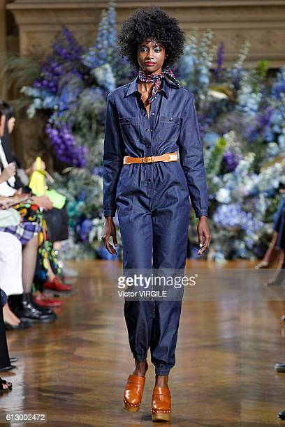 A model walks the runway during the Vanessa Seward fashion show as part of the Paris Fashion Week Womenswear Spring/Summer 2017 on October 4 2016 in...