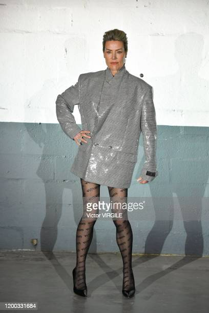 Model walks the runway during the Vetements Menswear Fall/Winter 2020-2021 fashion show as part of Paris Fashion Week on January 17, 2020 in Paris,...