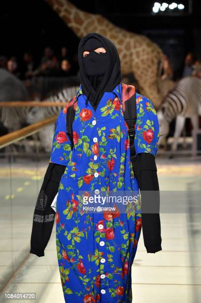 A model walks the runway during the Vetements Menswear Fall/Winter 20192020 show as part of Paris Fashion Week on January 17 2019 in Paris France