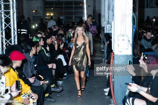 Model walks the runway during the Vetements Menswear Fall/Winter 2020-2021 show as part of Paris Fashion Week on January 17, 2020 in Paris, France.