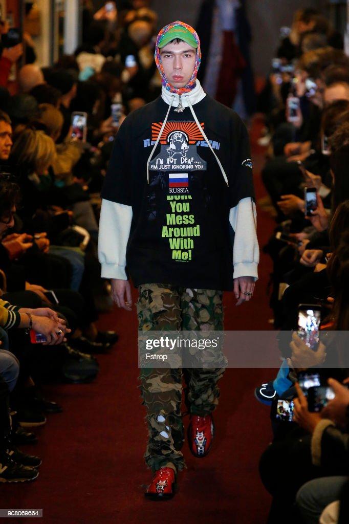 Vetements : Runway - Paris Fashion Week - Menswear F/W 2018-2019 : News Photo