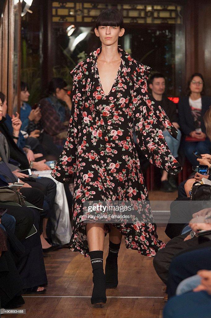 Vetements : Runway - Paris Fashion Week Womenswear Spring/Summer 2016 : News Photo
