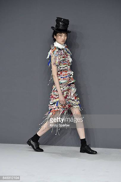Model walks the runway during the Viktor & Rolf Haute Couture Fall/Winter 2016-2017 show as part of Paris Fashion Week on July 6, 2016 in Paris,...