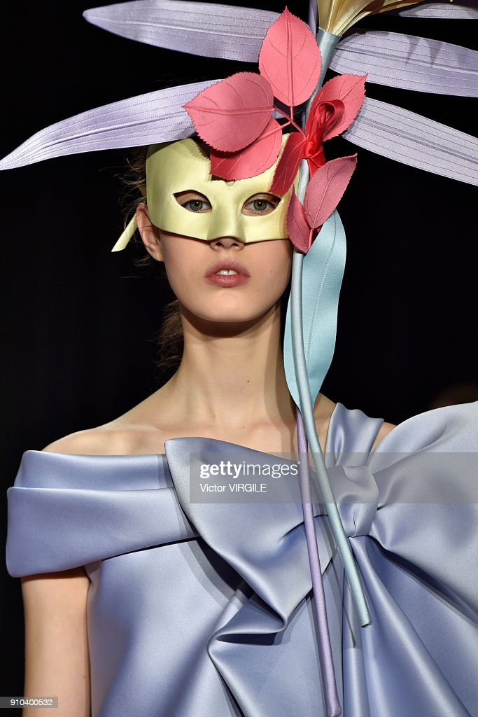 A model walks the runway during the Viktor & Rolf Haute Couture Spring Summer 2018 show as part of Paris Fashion Week on January 24, 2018 in Paris, France.