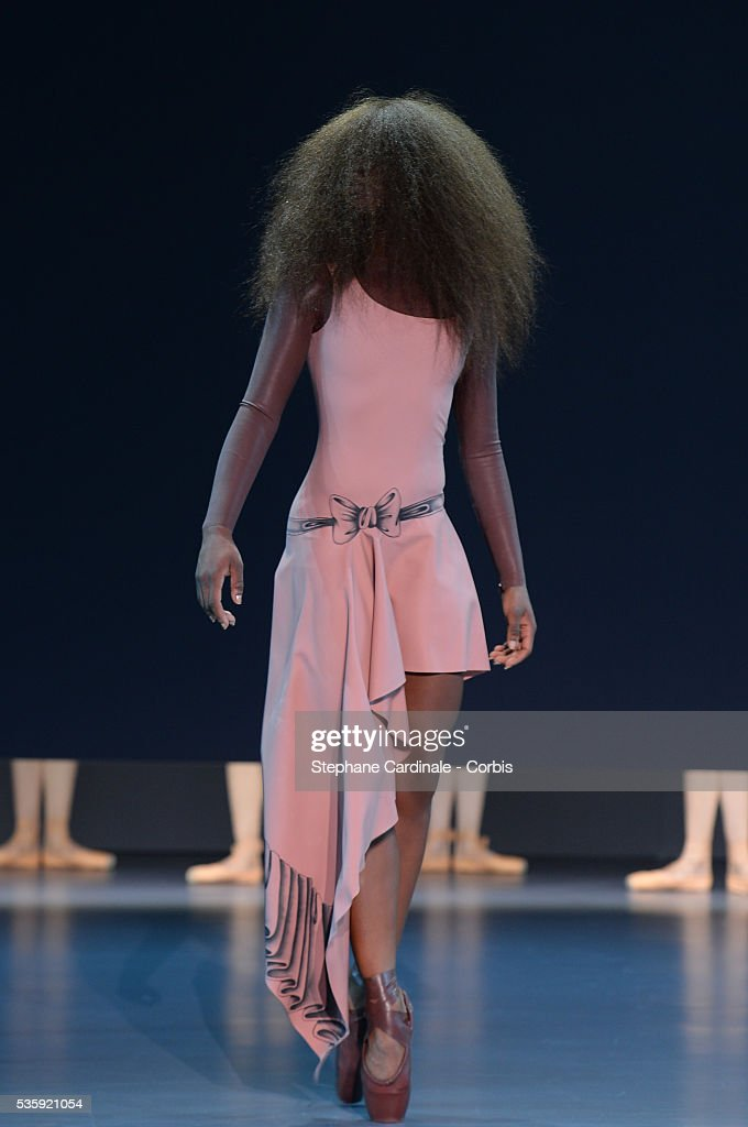 A model walks the runway during the Viktor&Rolf show as part of Paris Fashion Week Haute Couture Spring/Summer 2014, in Paris.