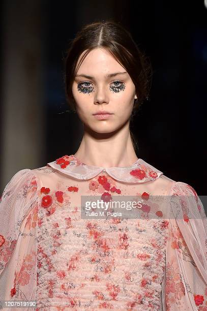 Model walks the runway during the Vivetta fashion show as part of Milan Fashion Week Fall/Winter 2020-2021 on February 20, 2020 in Milan, Italy.