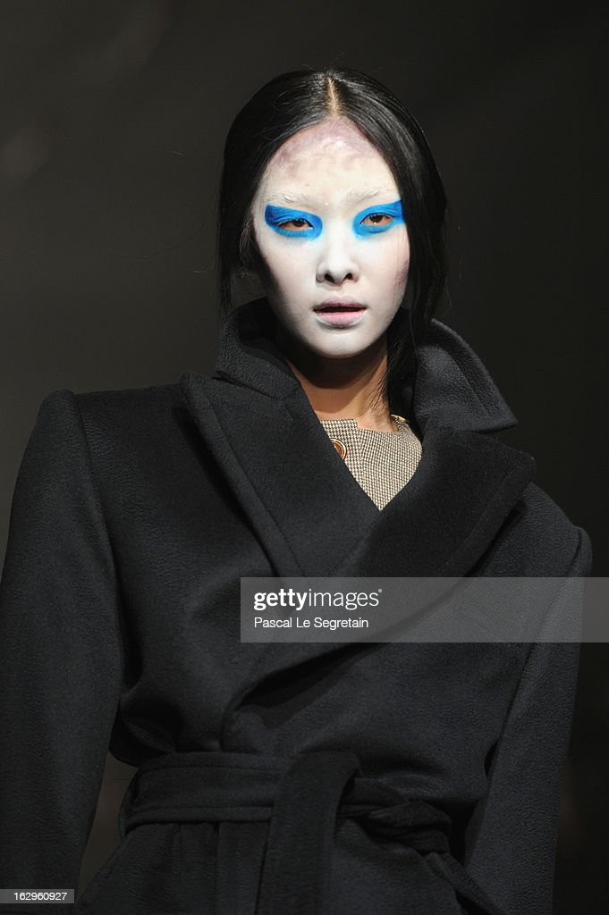 A model walks the runway during the Vivienne Westwood Fall/Winter 2013 Ready-to-Wear show as part of Paris Fashion Week on March 2, 2013 in Paris, France.