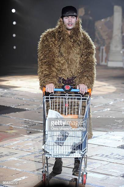 A model walks the runway during the Vivienne Westwood Milan Menswear Autumn/Winter 2010 show on January 17 2010 in Milan Italy
