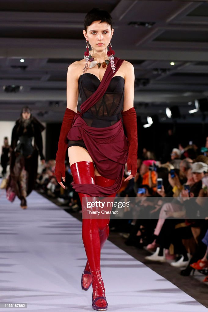 model-walks-the-runway-during-the-vivienne-westwood-show-as-part-of-picture-id1133187882