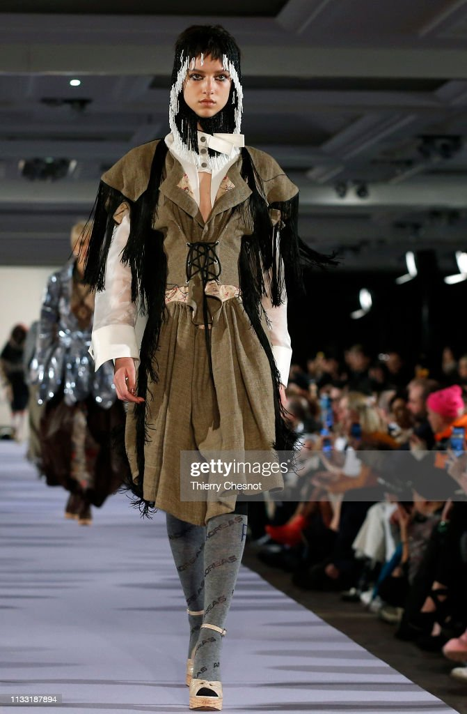 model-walks-the-runway-during-the-vivienne-westwood-show-as-part-of-picture-id1133187894