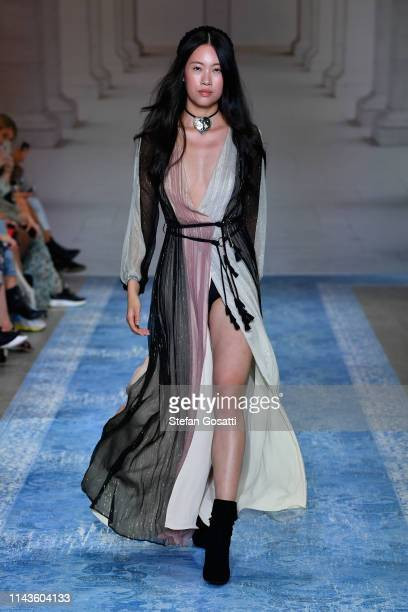 A model walks the runway during the We Are Kindred show at MercedesBenz Fashion Week Resort 20 Collections at Carriageworks on May 14 2019 in Sydney...