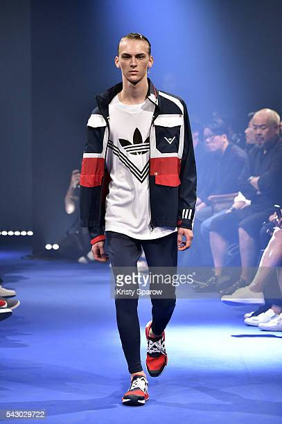 A model walks the runway during the White Mountaineering Menswear Spring/Summer 2017 show as part of Paris Fashion Week on June 25 2016 in Paris...