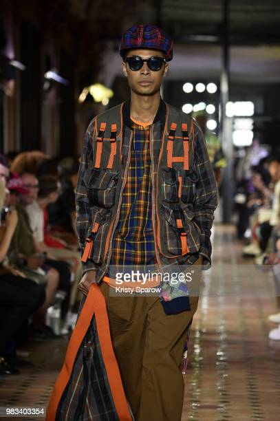 A model walks the runway during the White Mountaineering Menswear Spring/Summer 2019 show as part of Paris Fashion Week on June 23 2018 in Paris...