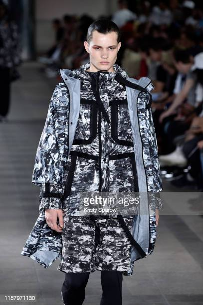 A model walks the runway during the White Mountaineering Menswear Spring Summer 2020 show as part of Paris Fashion Week on June 22 2019 in Paris...