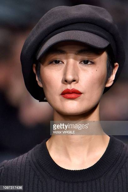 Model walks the runway during the Y3 Menswear Fall/Winter 2019-2020 fashion show as part of Paris Fashion Week on January 20, 2019 in Paris, France.