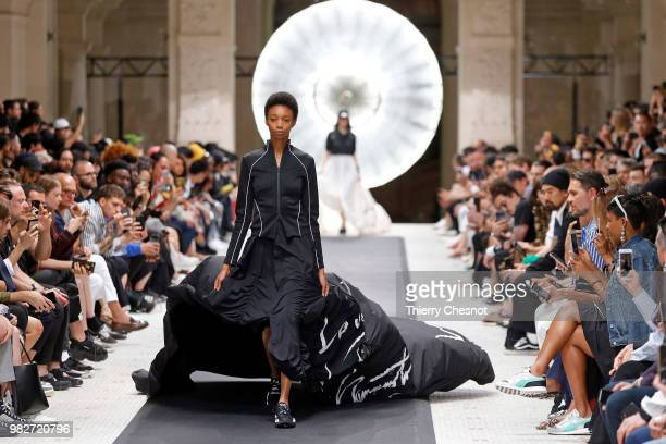 A model walks the runway during the Y3 Menswear Spring/Summer 2019 show as part of Paris Fashion Week on June 24 2018 in Paris France