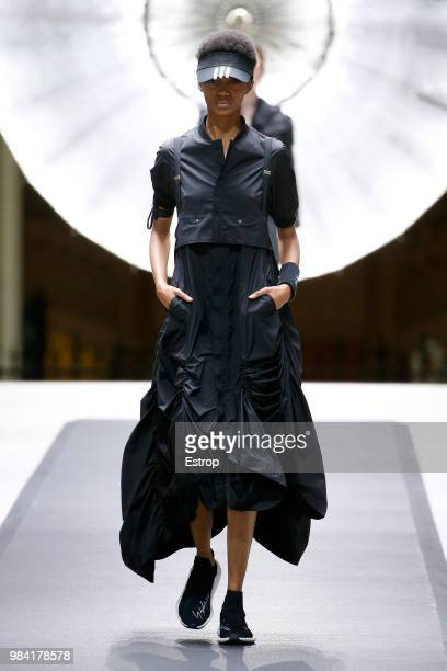 Model walks the runway during the Y-3 Menswear Spring/Summer 2019 show as part of Paris Fashion Week on June 24, 2018 in Paris, France.