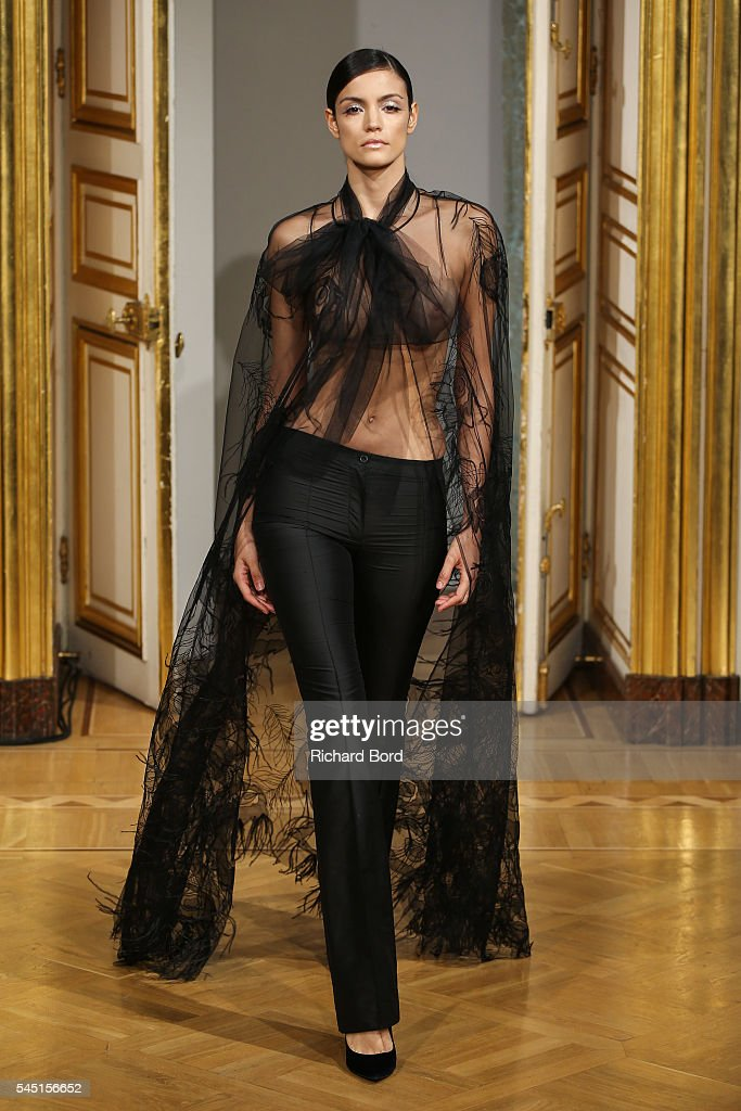 A model walks the runway during the Yanina Couture Haute Couture Fall/Winter 2016-2017 show as part of Paris Fashion Week on July 5, 2016 in Paris, France.