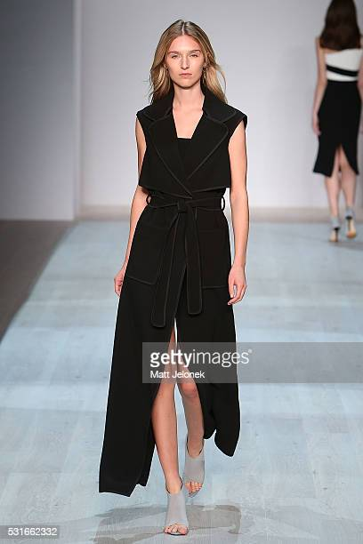 A model walks the runway during the Yeojin Bae show at MercedesBenz Fashion Week Resort 17 Collections at Carriageworks on May 16 2016 in Sydney...
