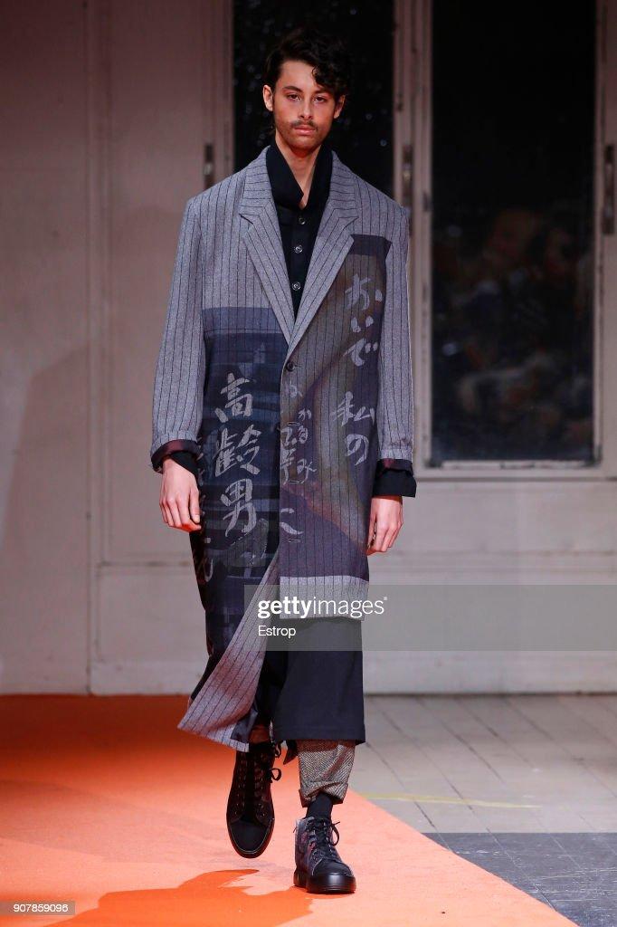 Yohji Yamamoto : Runway - Paris Fashion Week - Menswear F/W 2018-2019 : ニュース写真
