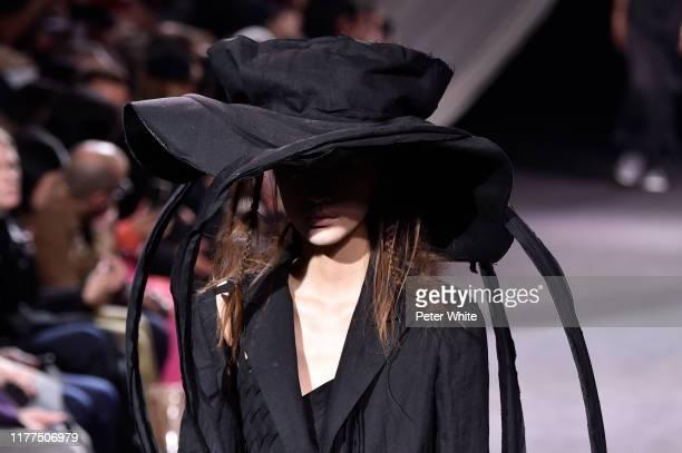 Model walks the runway during the Yohji Yamamoto Womenswear Spring/Summer 2020 show as part of Paris Fashion Week on September 27, 2019 in Paris,...