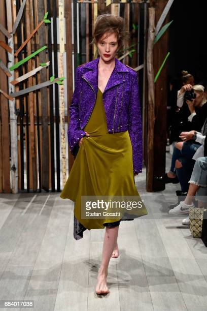 A model walks the runway during the Yousef Akbar show at MercedesBenz Fashion Week Resort 18 Collections at Carriageworks on May 17 2017 in Sydney...