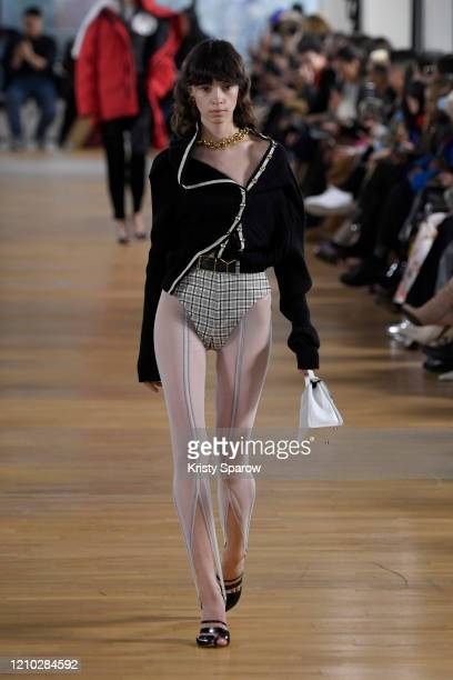 Model walks the runway during the Y/Project show as part of Paris Fashion Week Womenswear Fall/Winter 2020/2021 on March 02, 2020 in Paris, France.