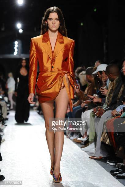 Model walks the runway during the Y/Project Womenswear Spring/Summer 2020 show as part of Paris Fashion Week on September 26, 2019 in Paris, France.