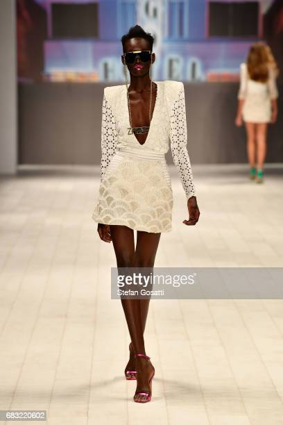 A model walks the runway during the ZHIVAGO show at MercedesBenz Fashion Week Resort 18 Collections at Carriageworks on May 15 2017 in Sydney...