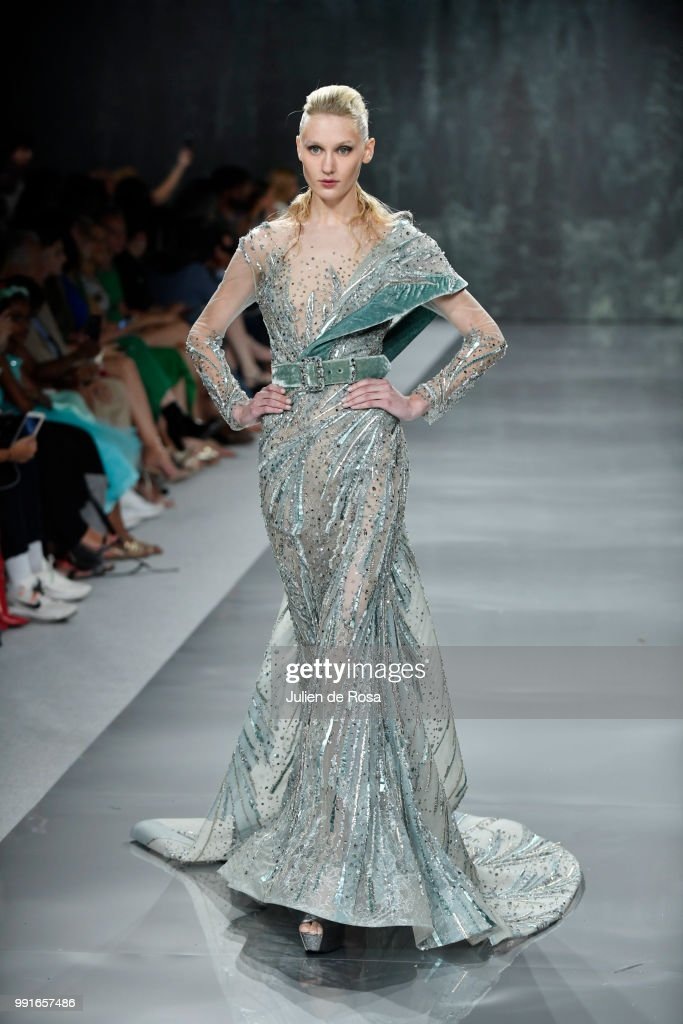 model-walks-the-runway-during-the-ziad-nakad-haute-couture-fall-as-picture-id991657486