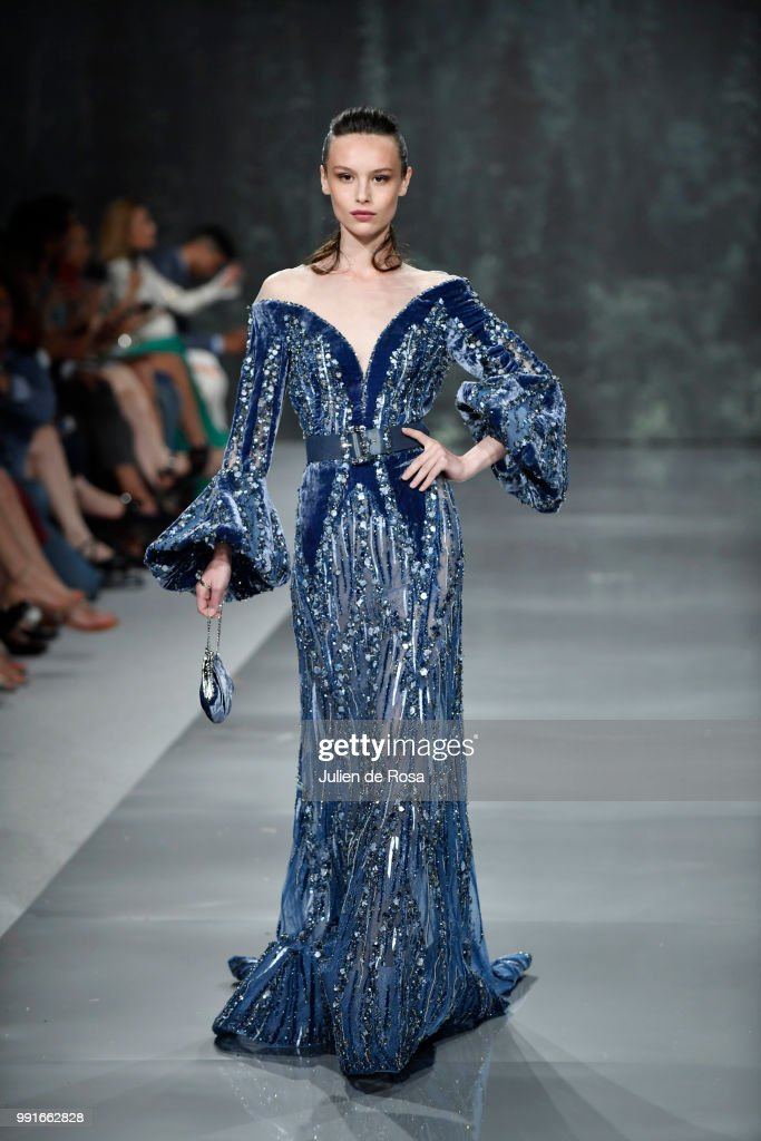 model-walks-the-runway-during-the-ziad-nakad-haute-couture-fall-as-picture-id991662828
