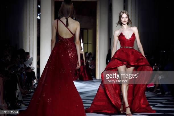 A model walks the runway during the Zuhair Murad Haute Couture Fall Winter 2018/2019 show as part of Paris Fashion Week on July 4 2018 in Paris France