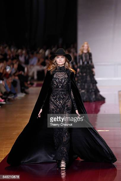 A model walks the runway during the Zuhair Murad Haute Couture Fall/Winter 20162017 show as part of Paris Fashion Week on July 6 2016 in Paris France