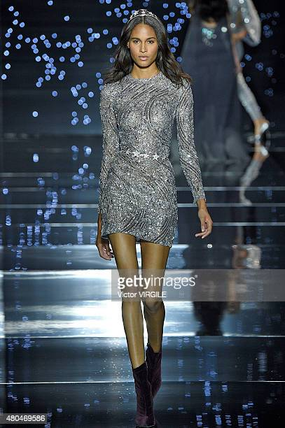 A model walks the runway during the Zuhair Murad show as part of Paris Fashion Week Haute Couture Fall/Winter 2015/2016 on July 9 2015 in Paris France