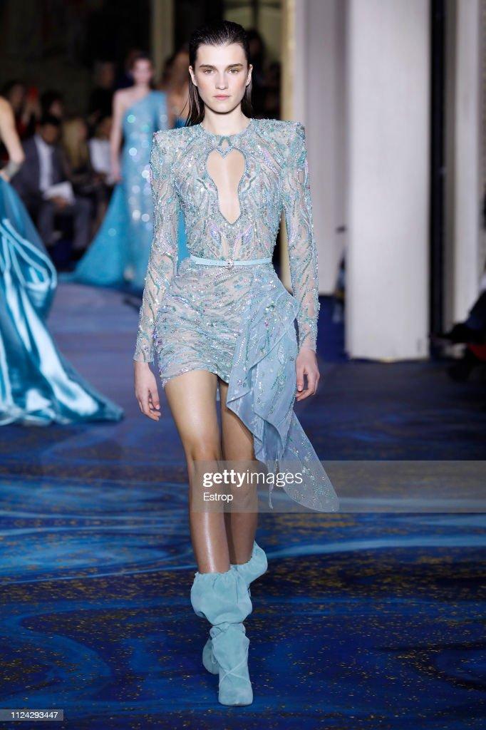 Zuhair Murad : Runway - Paris Fashion Week - Haute Couture Spring Summer 2019 : News Photo