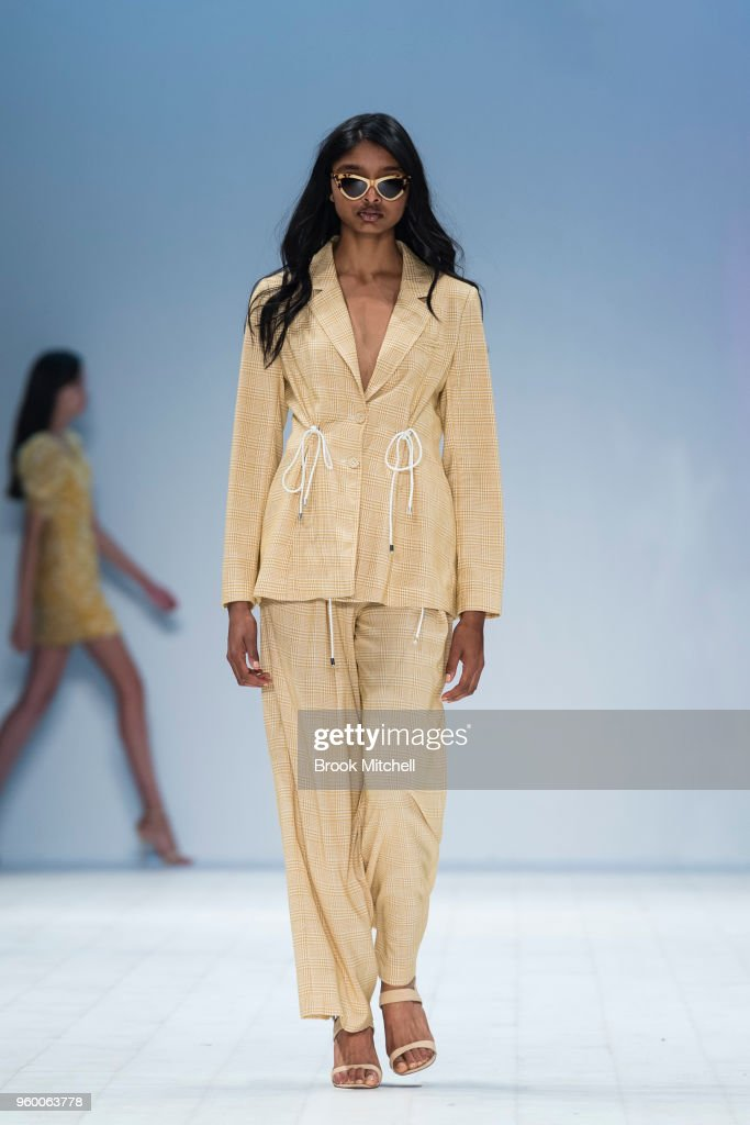 A model walks the runway during theResort Review show at Mercedes-Benz Fashion Week Australia - Weekend Edition at Carriageworks on May 19, 2018 in Sydney, Australia.