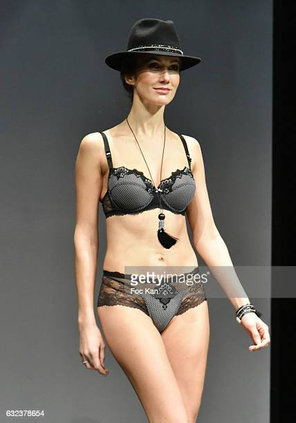 1967aa3ab5 A model walks the runway during tLise Charmel Lingerie Show as part of Paris  Fashion Week