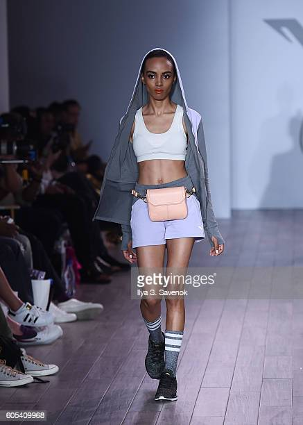 Model walks the runway during Vipe Activewear Collection With Angela Simmons runway show during September 2016 Style360 at Metropolitan West on...