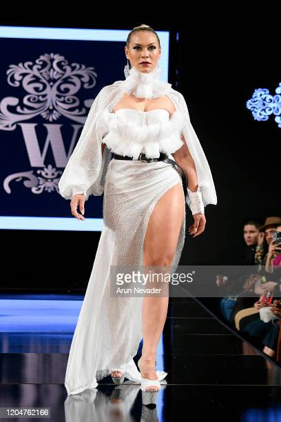 Model walks the runway during Willet Designs At New York Fashion Week Powered By Art Hearts Fashion NYFW 2020 at The Angel Orensanz Foundation on...