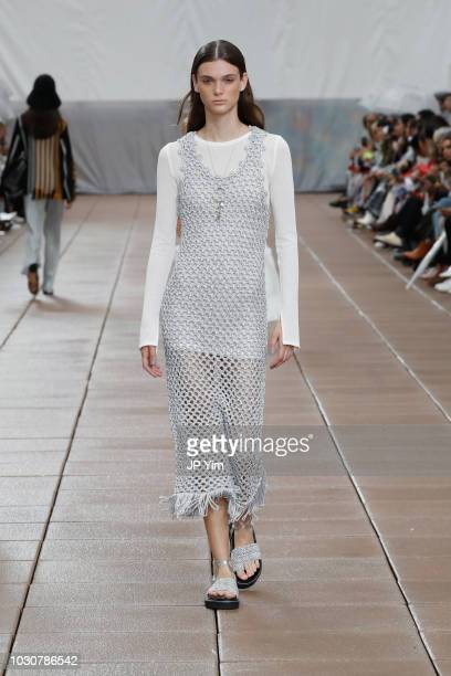A model walks the runway for 31 Phillip Lim during New York Fashion Week at New Design High School on September 10 2018 in New York City