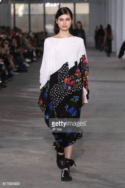 A model walks the runway for 31 Phillip Lim during New York Fashion Week The Shows at Skylight Clarkson North on February 12 2018 in New York City