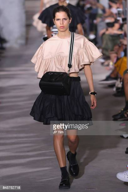 A model walks the runway for 31 Phillip Lim fashion show during New York Fashion Week on September 11 2017 in New York City