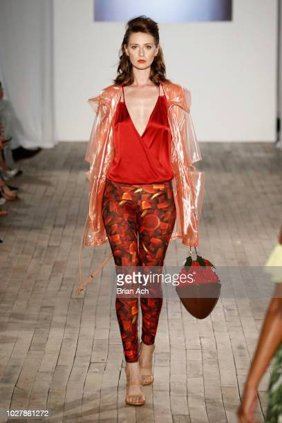 A model walks the runway for ACID NYC at the Nolcha Shows during New York Fashion Week Spring/Summer 2019 on September 6 2018 in New York City